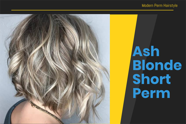 Ash Blonde Short Perm