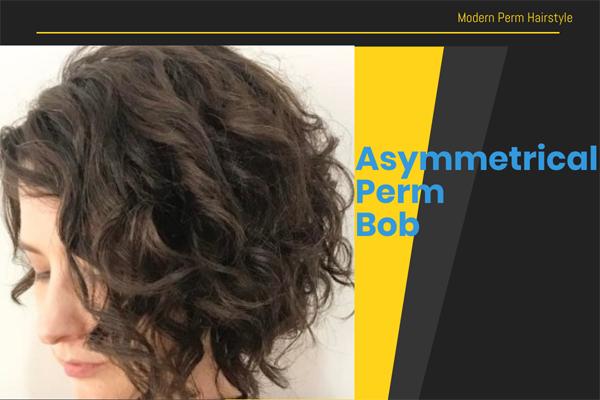Asymmetrical Perm Bob