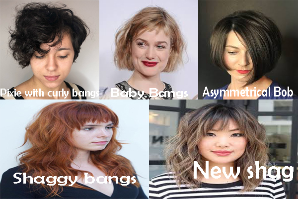 Best Bangs For Wavy Hair Bangs For Difference Face Shapes Hair Trends