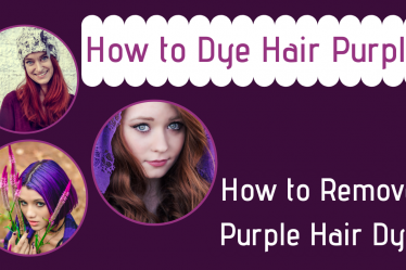 How to dye hair purple