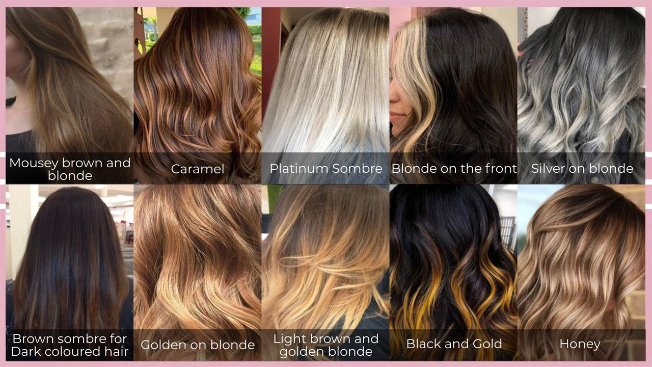 Sombre hair colors