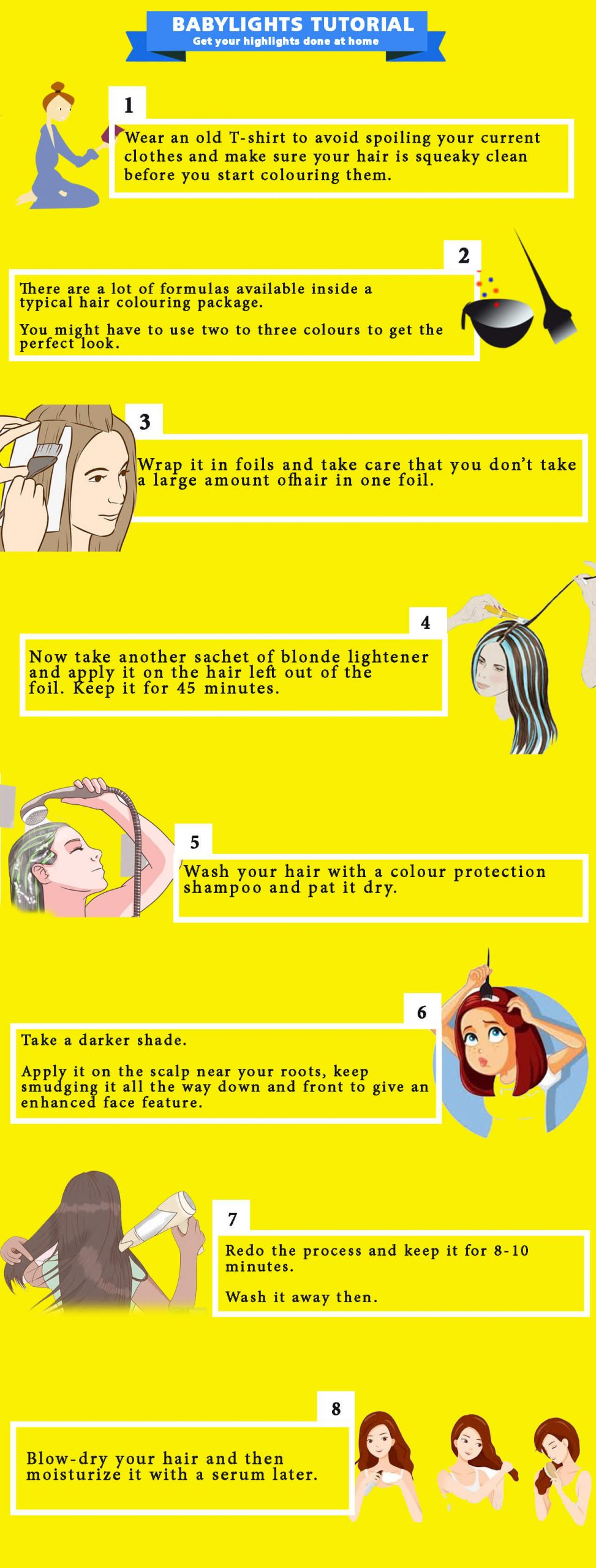 how to do babylights - infographic