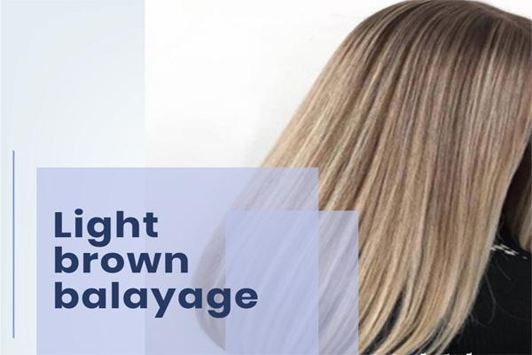 light brown balayage