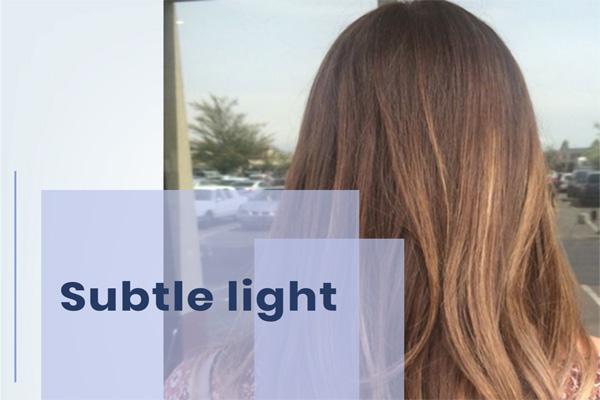 subtle light balayage