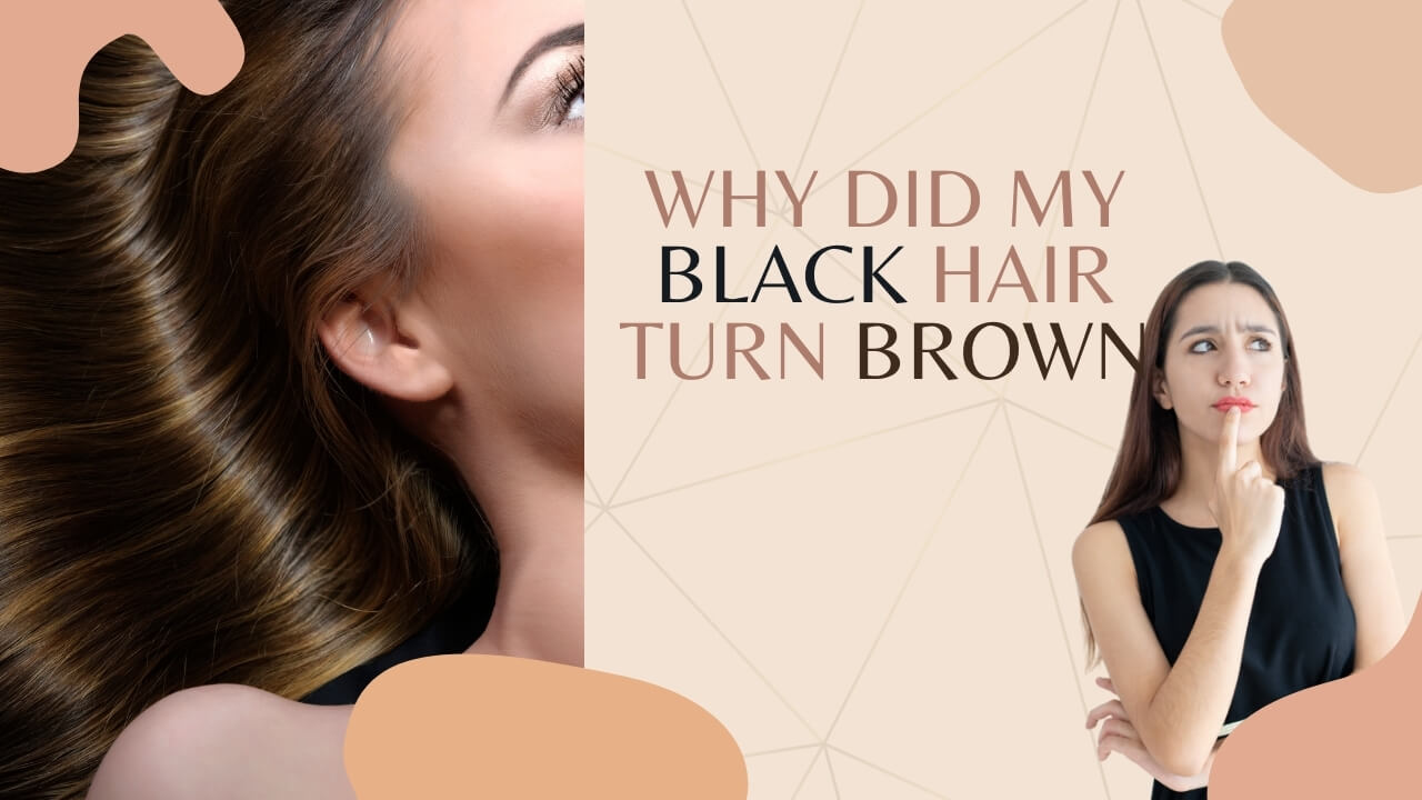 How do you keep black hair from turning brown