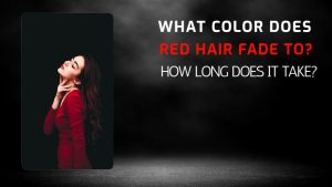 what color does red hair fade to