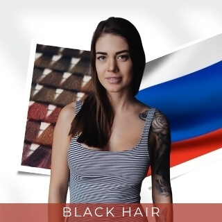 Black - One of the Most Popular Hair Colors in Russia