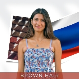 Brown - Most Common Hair Color in Russia