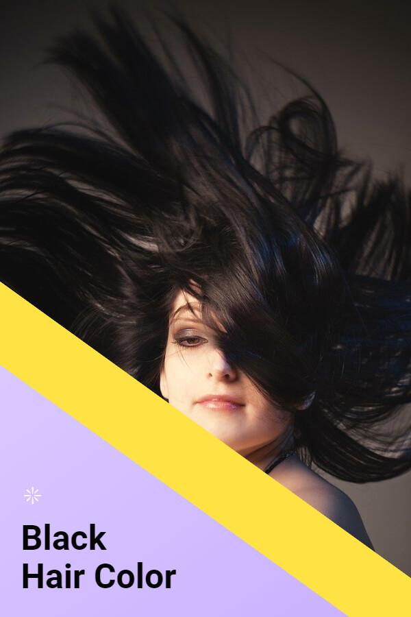 Black hair color - popular hair color in France