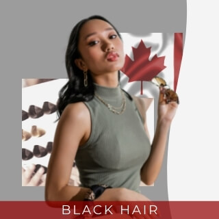 Black hair - second most common hair color in canada