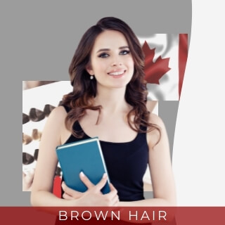 Brown hair - most common hair color in canada