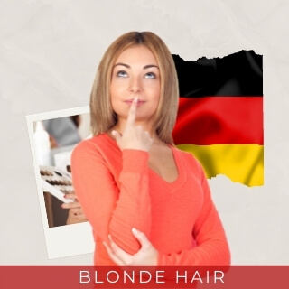 Blondes - second most popular hair color in germany