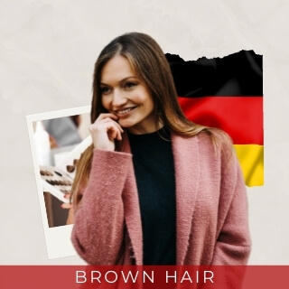 Brown - most common hair color in germany