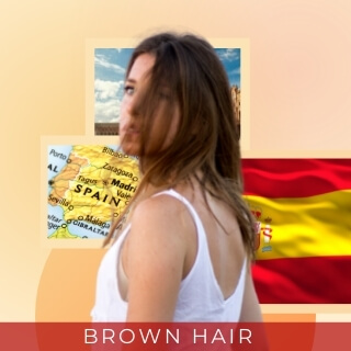 Brown - Most popular hair color in Spain