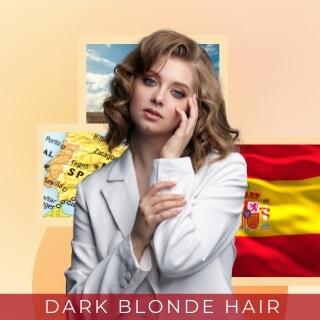 Spanish Dark Blonde - Second most popular hair color in Spain