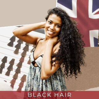 Black - One of the most common hair colour in the UK