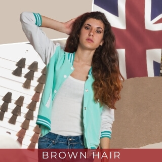 Brown - Second most common hair color in UK
